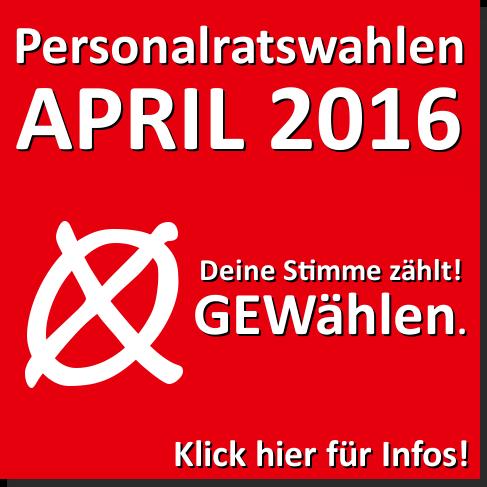 Personalratswahlen April 2016
